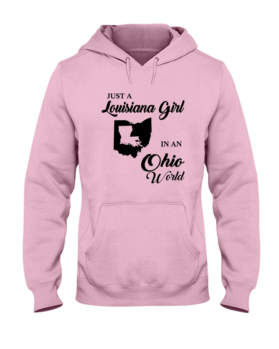 JUST A LOUISIANA GIRL IN AN OHIO WORLD Hooded Sweatshirt
