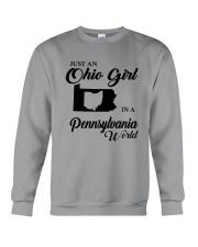 JUST An OHIO GIRL IN A PENNSYLVANIA WORLD Crewneck Sweatshirt thumbnail