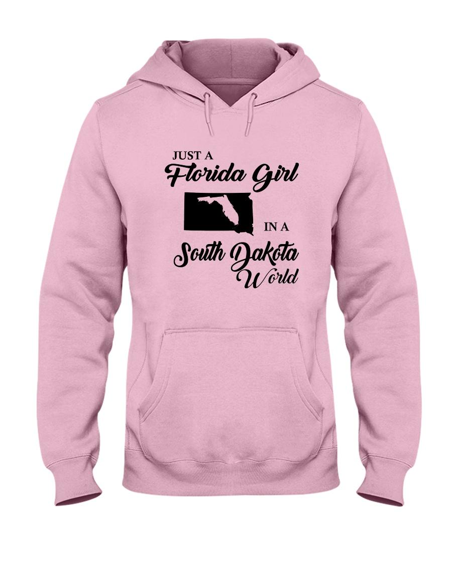 JUST A FLORIDA GIRL IN A SOUTH DAKOTA WORLD Hooded Sweatshirt