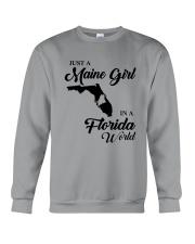 JUST A MAINE GIRL IN A FLORIDA WORLD Crewneck Sweatshirt thumbnail