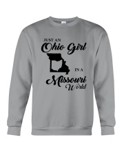 JUST An OHIO GIRL IN A MISSOURI WORLD Crewneck Sweatshirt thumbnail