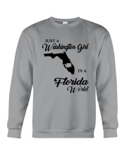 JUST A WASHINGTON GIRL IN A FLORIDA WORLD Crewneck Sweatshirt thumbnail