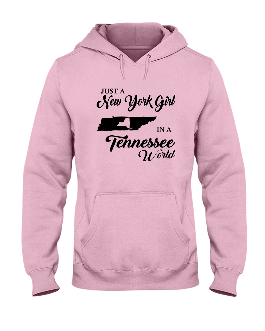 JUST A NEW YORK GIRL IN A TENNESSEE WORLD Hooded Sweatshirt