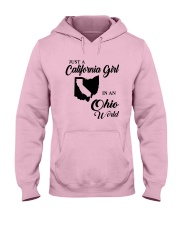 JUST A CALIFORNIA GIRL IN AN OHIO WORLD Hooded Sweatshirt front