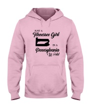 JUST A TENNESSEE GIRL IN A PENNSYLVANIA WORLD Hooded Sweatshirt front