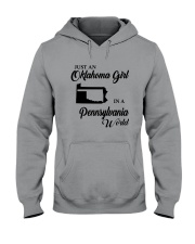 JUST AN OKLAHOMA GIRL IN A PENNSYLVANIA WORLD Hooded Sweatshirt tile