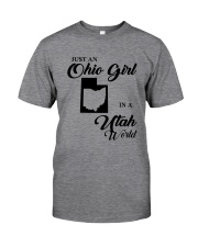 JUST An OHIO GIRL IN A UTAH WORLD Classic T-Shirt thumbnail