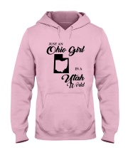 JUST An OHIO GIRL IN A UTAH WORLD Hooded Sweatshirt front