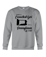 JUST A CONNECTICUT GIRL IN A PENNSYLVANIA WORLD Crewneck Sweatshirt thumbnail