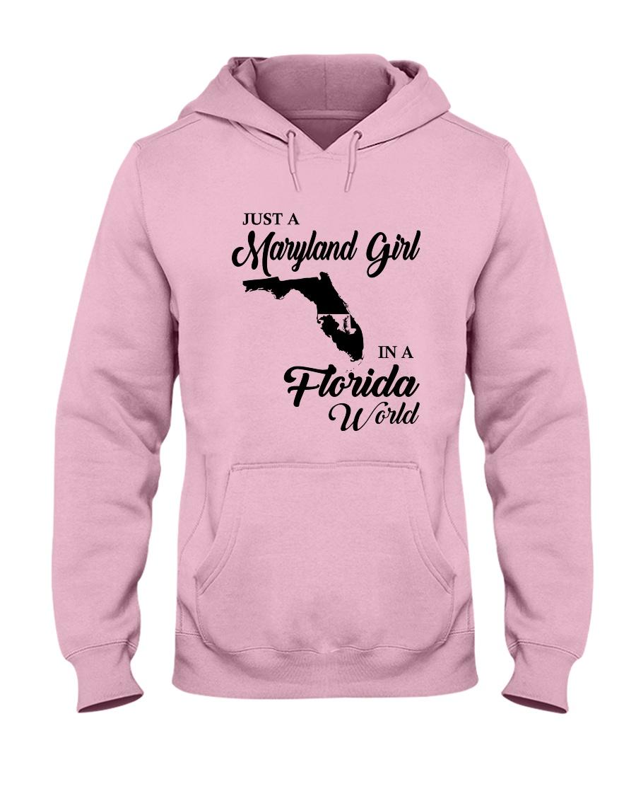 JUST A MARYLAND GIRL IN A FLORIDA WORLD Hooded Sweatshirt