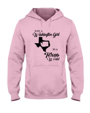JUST A WASHINGTON GIRL IN A TEXAS WORLD Hooded Sweatshirt thumbnail