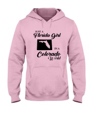 JUST A FLORIDA GIRL IN A COLORADO WORLD Hooded Sweatshirt front