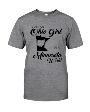 JUST An OHIO GIRL IN A MINNESOTA WORLD Classic T-Shirt thumbnail