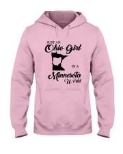 JUST An OHIO GIRL IN A MINNESOTA WORLD Hooded Sweatshirt front