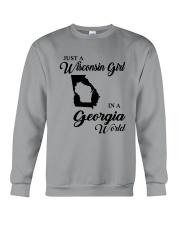 JUST A WISCONSIN GIRL IN A GEORGIA WORLD Crewneck Sweatshirt thumbnail