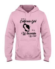 JUST A CALIFORNIA GIRL IN A WISCONSIN WORLD Hooded Sweatshirt front