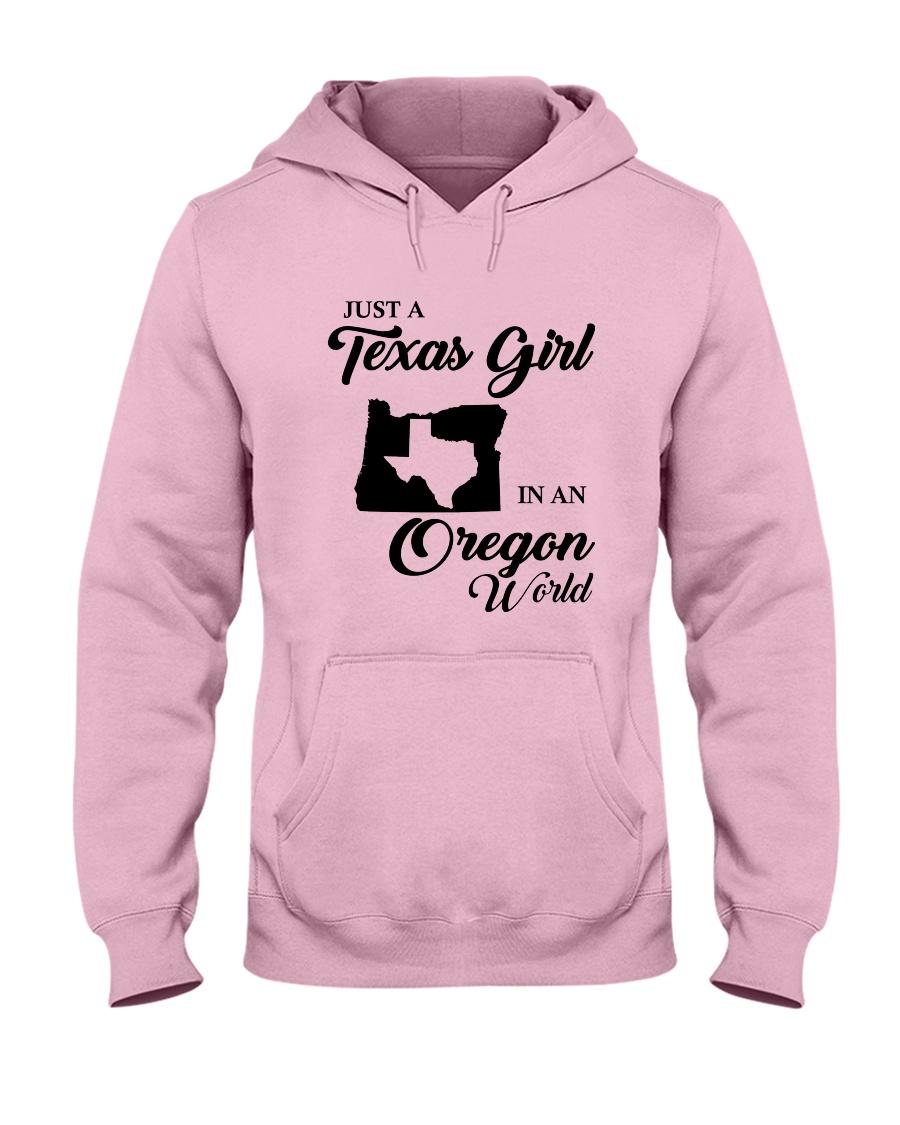 JUST A TEXAS GIRL IN AN OREGON WORLD Hooded Sweatshirt