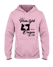 JUST A TEXAS GIRL IN AN OREGON WORLD Hooded Sweatshirt front