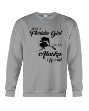 JUST A FLORIDA GIRL IN AN ALASKA WORLD Crewneck Sweatshirt tile
