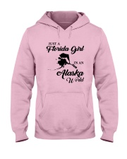 JUST A FLORIDA GIRL IN AN ALASKA WORLD Hooded Sweatshirt thumbnail