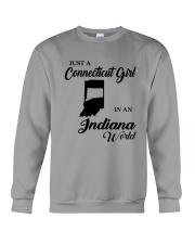 JUST A CONNECTICUT GIRL IN An INDIANA WORLD Crewneck Sweatshirt thumbnail