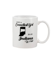 JUST A CONNECTICUT GIRL IN An INDIANA WORLD Mug thumbnail