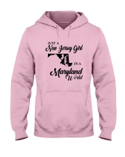 JUST A NEW JERSEY GIRL IN A MARYLAND WORLD Hooded Sweatshirt front