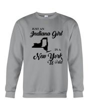 JUST AN INDIANA GIRL IN A NEW YORK WORLD Crewneck Sweatshirt thumbnail