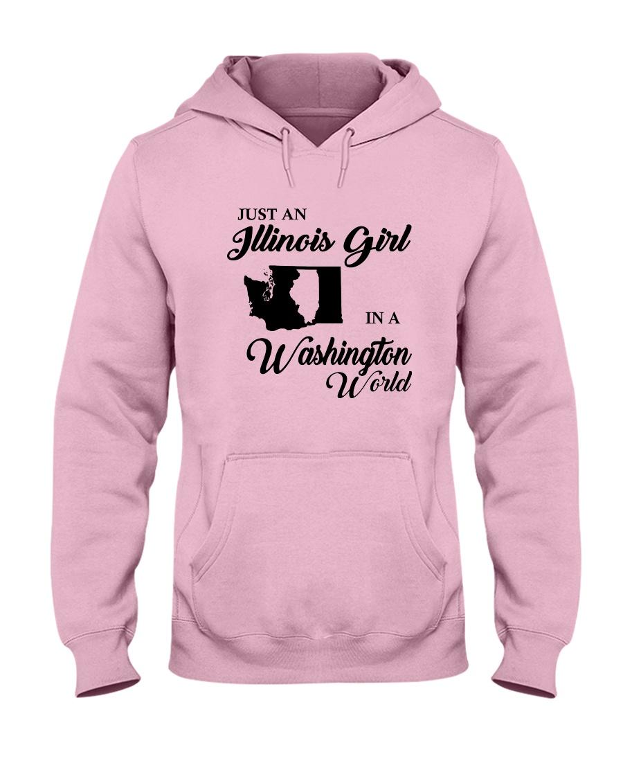 JUST AN ILLINOIS GIRL IN A WASHINGTON WORLD Hooded Sweatshirt