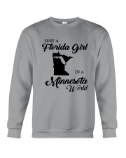 JUST A FLORIDA GIRL IN A MINNESOTA WORLD Crewneck Sweatshirt thumbnail