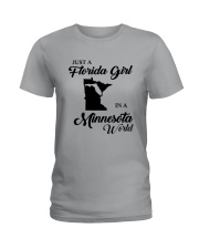 JUST A FLORIDA GIRL IN A MINNESOTA WORLD Ladies T-Shirt tile