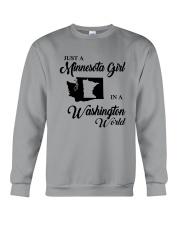 JUST A MINNESOTA GIRL IN A WASHINGTON WORLD Crewneck Sweatshirt thumbnail
