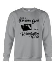 JUST A FLORIDA GIRL IN A WASHINGTON WORLD Crewneck Sweatshirt thumbnail