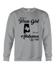 JUST A TEXAS GIRL IN AN ALABAMA WORLD Crewneck Sweatshirt thumbnail