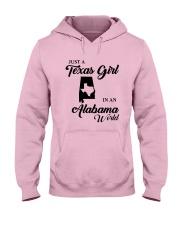 JUST A TEXAS GIRL IN AN ALABAMA WORLD Hooded Sweatshirt front
