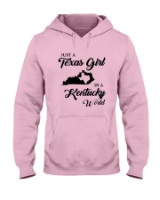 JUST A TEXAS GIRL IN A KENTUCKY WORLD Hooded Sweatshirt front