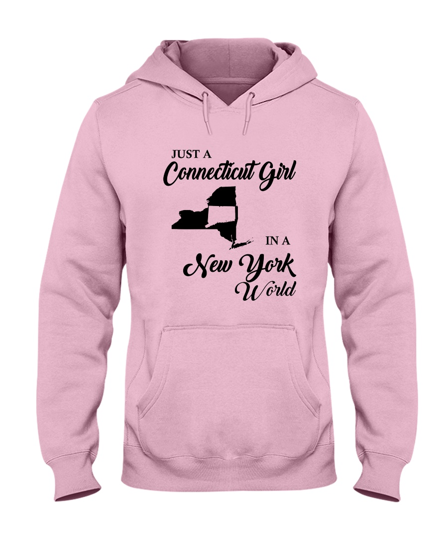 JUST A CONNECTICUT GIRL IN A NEW YORK WORLD Hooded Sweatshirt