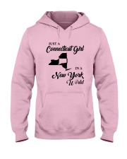 JUST A CONNECTICUT GIRL IN A NEW YORK WORLD Hooded Sweatshirt front