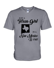 JUST A TEXAS GIRL IN A NEW MEXICO WORLD V-Neck T-Shirt thumbnail