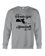 JUST A FLORIDA GIRL IN A MASSACHUSETTS WORLD Crewneck Sweatshirt thumbnail