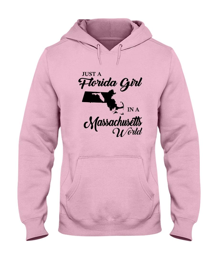 JUST A FLORIDA GIRL IN A MASSACHUSETTS WORLD Hooded Sweatshirt