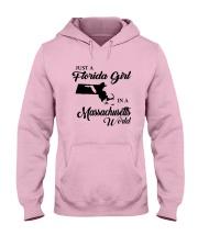 JUST A FLORIDA GIRL IN A MASSACHUSETTS WORLD Hooded Sweatshirt front