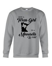 JUST A TEXAS GIRL IN A MINNESOTA WORLD Crewneck Sweatshirt thumbnail