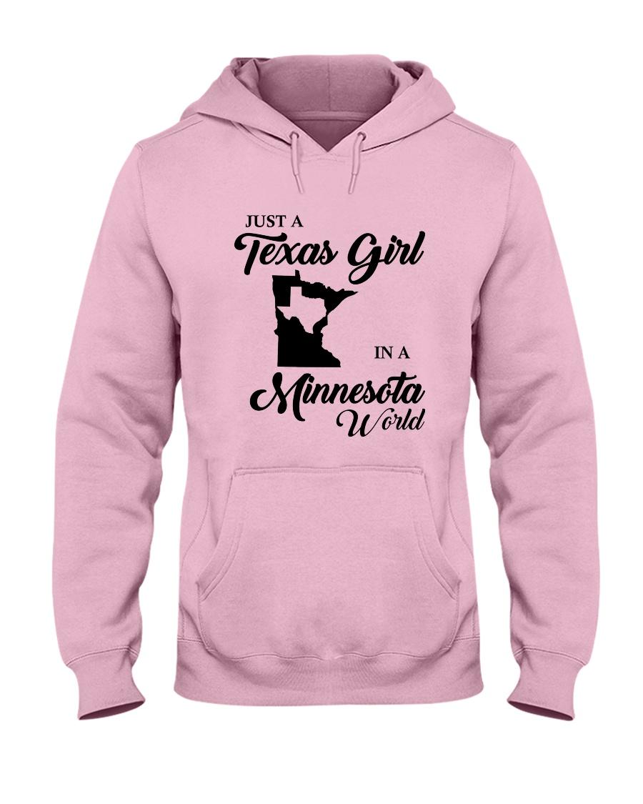 JUST A TEXAS GIRL IN A MINNESOTA WORLD Hooded Sweatshirt