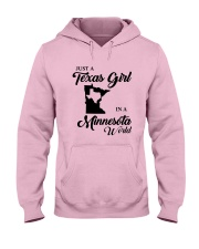 JUST A TEXAS GIRL IN A MINNESOTA WORLD Hooded Sweatshirt front