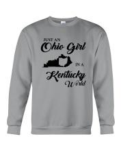 JUST An OHIO GIRL IN A KENTUCKY WORLD Crewneck Sweatshirt thumbnail