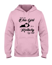 JUST An OHIO GIRL IN A KENTUCKY WORLD Hooded Sweatshirt front