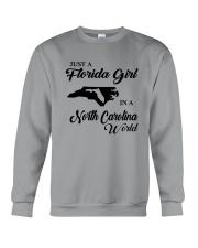 JUST A FLORIDA GIRL IN A NORTH CAROLINA WORLD Crewneck Sweatshirt thumbnail