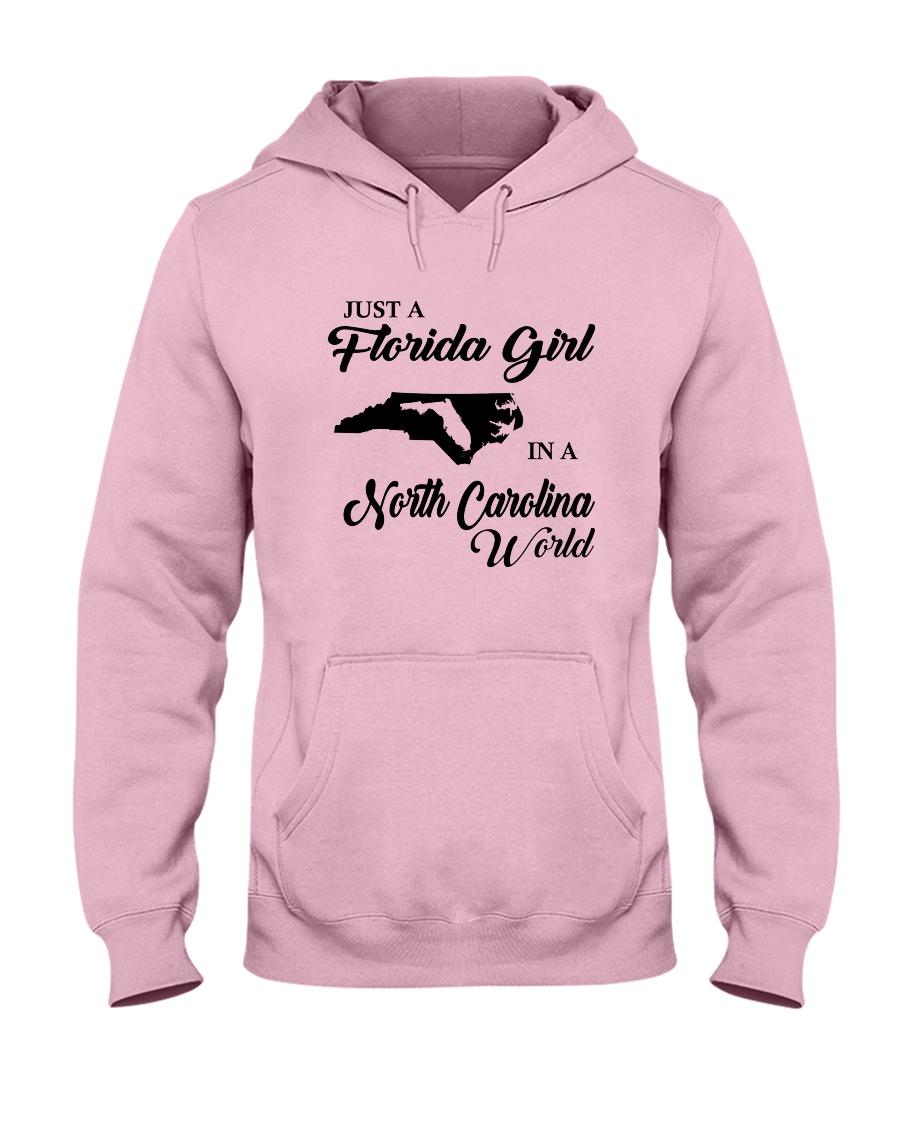 JUST A FLORIDA GIRL IN A NORTH CAROLINA WORLD Hooded Sweatshirt