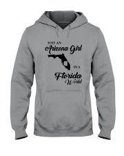 JUST AN ARIZONA GIRL IN A FLORIDA WORLD Hooded Sweatshirt tile